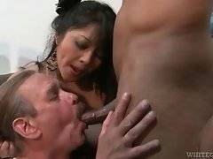 White man is forced for tasting black cock by his nasty wife.