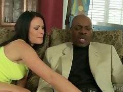 Sexy Ashli Ames is extremely bored and she seduces her black step dad.