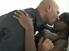 Christian is cheating on his girlfriend with hot black tgirl.