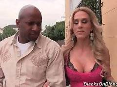 Black dude is going to make this hot vegan babe eat some dark meat.