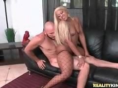 Sluty ebonie Angel works her booty and fucks Jmac.
