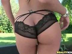 Enjoy the view of Bethany Benz`s tight booty and big tits.