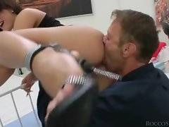 Hungry Rocco likes to taste babe`s pink holes.