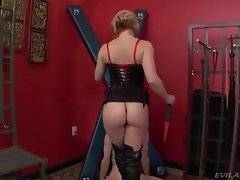 Sluty experienced lady is fond of agressive sex games.