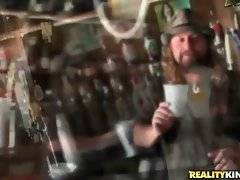 Levi Cash picks up hot blonde Charity Mcclain in bar.