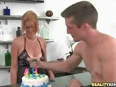 Danny D presents a Birthday cake for pretty lady Joss.