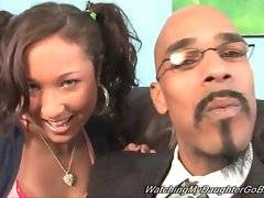Psychologist invite black dude to help man accept his daughter`s habbits.