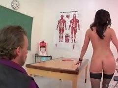 Hot lady professor makes of this parent personal sex slave.