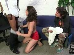 Casey faces black banker`s huge cock and what she does is no longer for her boyfriend`s loan.