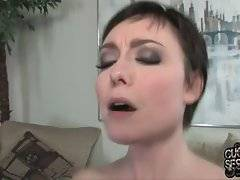 Zoe tells her psychotherapist to get closer and watch her riding huge black bone.