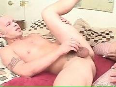 Horny attractive shemale drills eager dude.