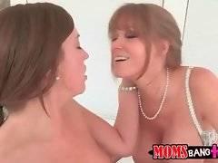 Darla Crane tastes Maddy`s pussy juices from Xander`s dong.