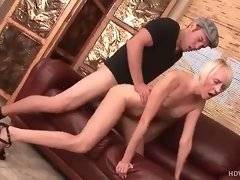 Milf greatly enjoys having her pussy drilled with hard younger cock.