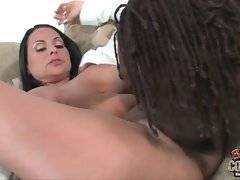 Milf needs someone to eat her wet pussy and tough black guy is ready to do it.