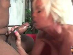Breasted slim white milf readily blows thick black dicks.