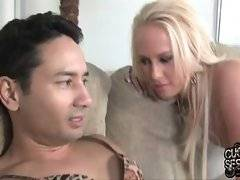 If Carla sucks her cuckold she still has 99% of her mouth free, that`s why she loves big black dicks.