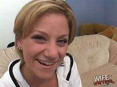 Cute Alex Divine tells she is here to suck some black cock.