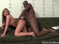 Brianna moans from pleasure while Lex`s dick moves in and out her hole.