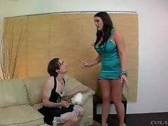 Back from party drunk Mackenzee uses the chance to humiliate her sissified husband.