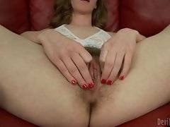 Naughty Sammy Grand doesn`t like to shave herself.