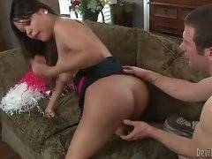 Tough fellow gives cute asian tranny nice oral and anal pleasure.