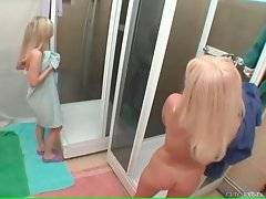 Two hot Russian blondes Masha and Wiska are in shower.