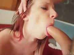 Petite cutie Jada Stevens works her sweet mouth at Alex`s big boner.