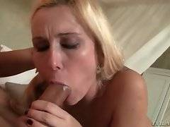 Nasty Mandy isn?t satisfied until she sucks all the hot cum from David`s spurting cock head.
