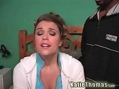 Naughty Katie Thomas is thinking about black phallus