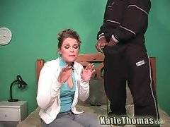 Brave and gorgeous Katie Thomas wants to suck his dick