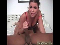 In this porn video you can see hot Katie Thomas