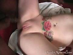 In this porn video you can see dirty and naked Candy Monroe