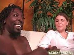 Katie Thomas spreads her legs for Byron Long.