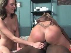 Fiona Cheeks encourages black guy to cum inside her pussy.