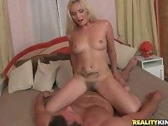 In this porn video you can see sexy blonde