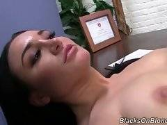 Gabriella Paltrova loves to get teased with fat black cock moving in and out of her anus.