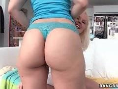 Pretty Liz skillfully shakes her yummy meaty butt cheeks.