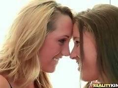Playful lesbian Brett Rossi has a present for her girlfriend Elisa.