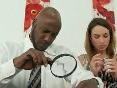 Amber Rayne is very cock hungry and she sees no harm in seducing her step dad.