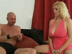 Lovely Charlee Chase loses the game as she gets naked first but she`s not at all upset.