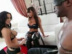 Lisa Ann and Jayden James torture bounded and blindfolded Lexington Steele by having fun without him.
