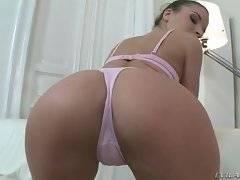 Teen sweetie Anita Bellini in pink underwear is always ready to strip for camera.
