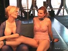 Nina Hartley gladly welcomes her good old friend Nica Noelle.