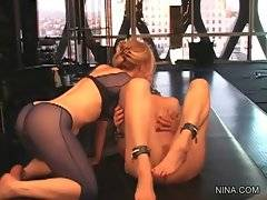 Horny lady Nica Noelle gets her pussy licked by skillful Nina Hartley.