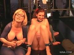 Nina Hartley knows how to make Nica Noelle too much turned on.