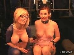 Nina Hartley does her best to get naughty Nica Noelle off.