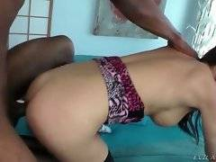 Rico Steele attacks sexy t-girl Danika Dreamz with all his lust.