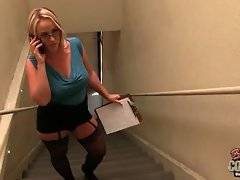 Curvaceous milf Dee Siren has to check the complaints about her tenants.