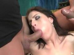 This babe loves to have her pussy and mouth filled with men erect meat.