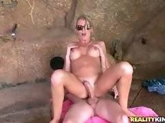 Good looking skinny mommy adores vigorous cock riding.
